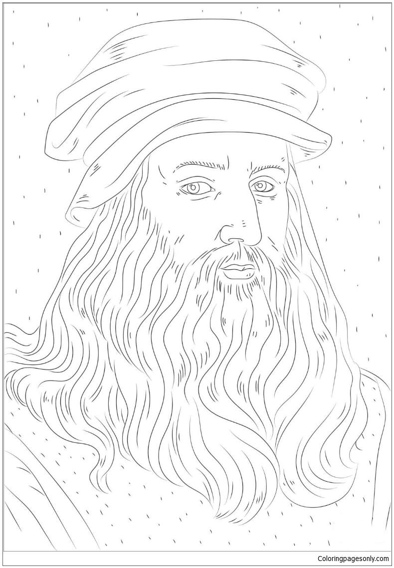 Leonardo Da Vinci Coloring Pages