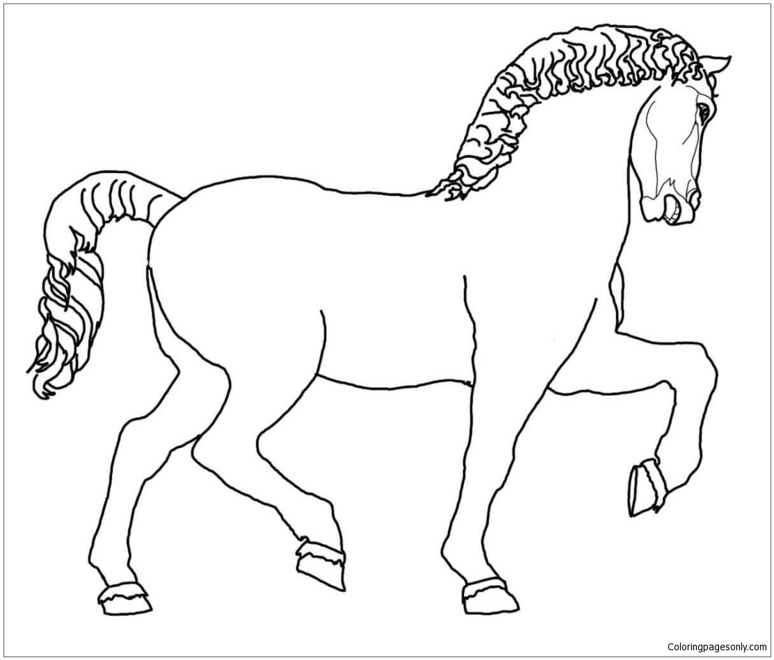Leonardo S Horse Sculpture Coloring Page