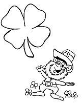 Leprechaun St Patricks Day Coloring Page