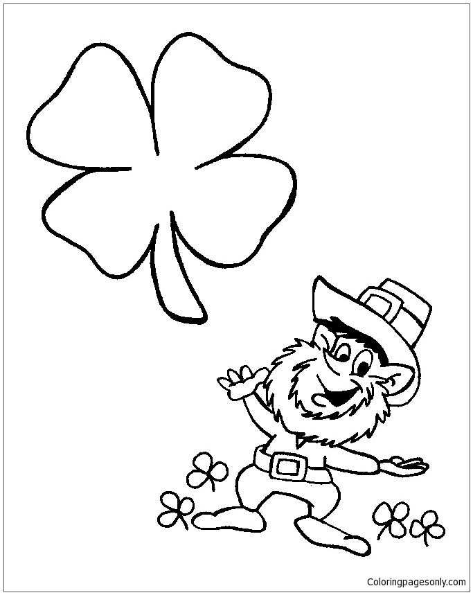 Leprechaun St Patricks Day Coloring Page Free Coloring Pages Online