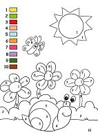 Let Color Spring Poster Coloring Page