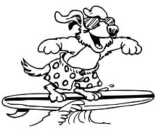 Let s Surf Coloring Page