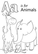 Letter A is for Animals