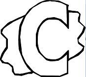 Letter C - image 1 Coloring Page