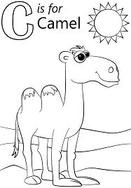 Letter C is for Camel Coloring Page