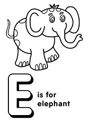 Letter E is for Elephant 2