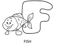 Letter F Is For Fish 1 Coloring Page