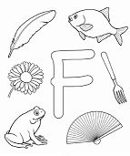Letter F Coloring Page