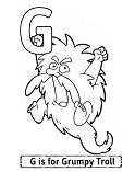 Letter G Is For Grumpy Troll