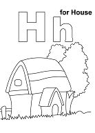 Letter H Is For House