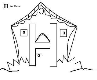 Letter H Worksheets Preschool Coloring Page