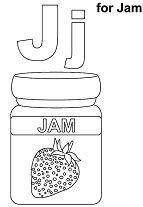 Letter J for Jam