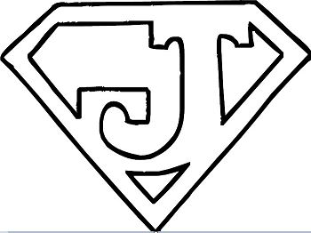 Letter J Superman Logo