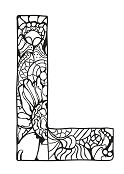 Letter L for kids Coloring Page