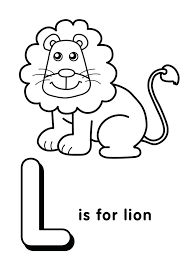 Letter L is for Lion 1 Coloring Page