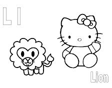 Letter L is for Lion Coloring Page