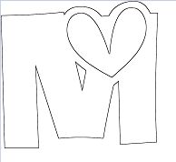 Letter M - image 1 Coloring Page