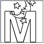 Letter M - image 2 Coloring Page