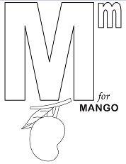 Letter M for Mango