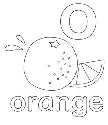 Letter O Orange
