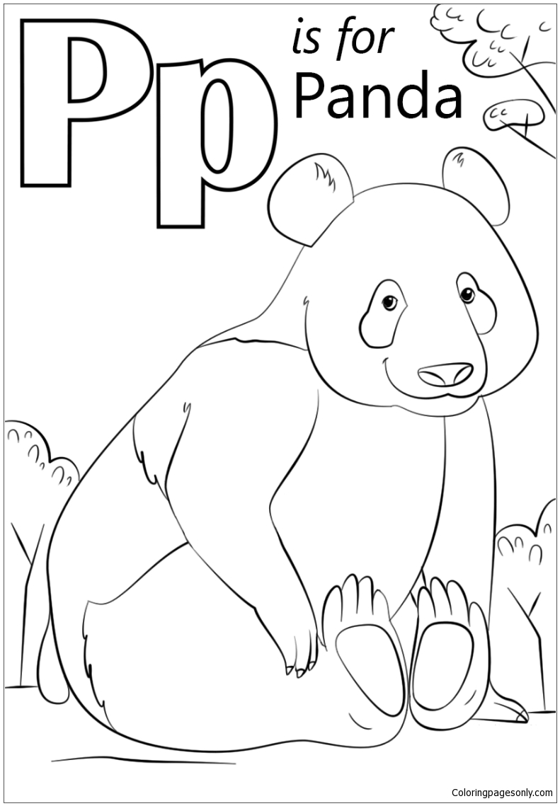 - Letter P Is For Panda Coloring Page - Free Coloring Pages Online