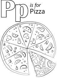 Letter P is for Pizza