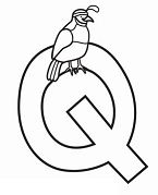 Letter Q is for Quail Coloring Page