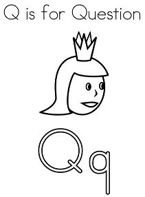 Letter Q Is For Question Coloring Page