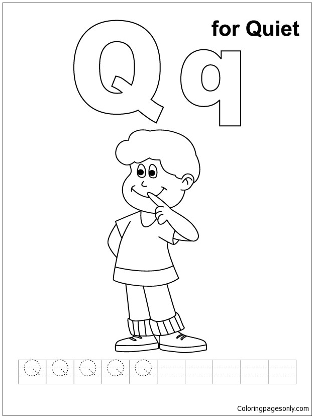 Letter Q Is For Quiet Coloring Page Free Coloring Pages Online