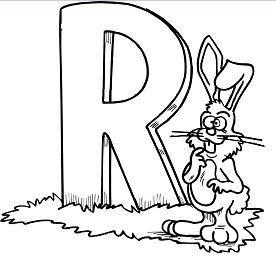 Letter R is for Rabbit