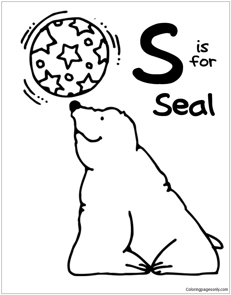 Letter S Is For Seal Coloring Page Free Coloring Pages Online