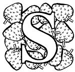 Letter S is for Strawberry