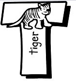 Letter T Is For Tiger Coloring Page