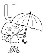 Letter U Is For Umbrella