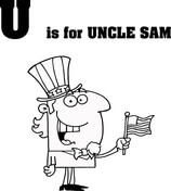 Letter U is for Uncle Sam