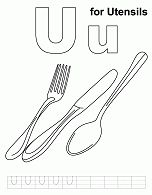 Letter U is for Utensils