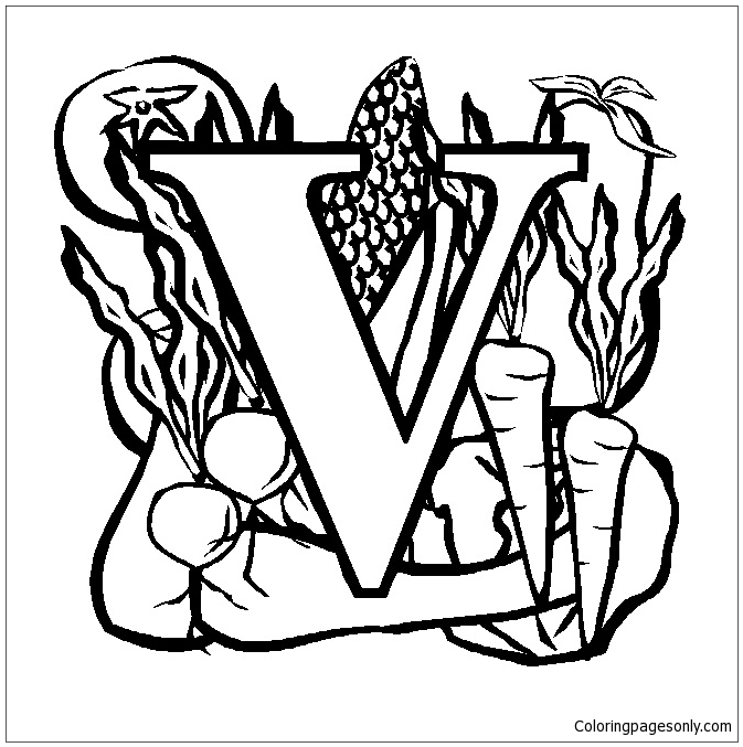 Letter V Coloring Page Free Coloring Pages Online