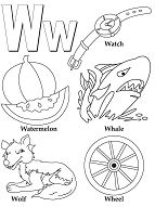 Letter W - image 1 Coloring Page