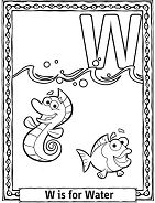 Letter W Is For Water Coloring Page