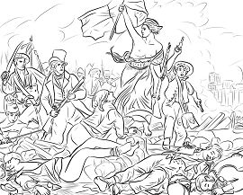 Liberty Leading the People Coloring Page