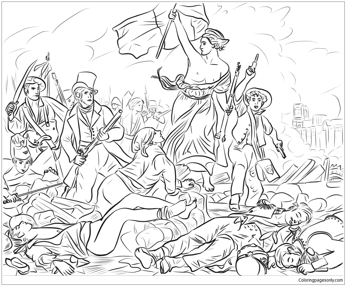 Liberty Leading the People Coloring Pages