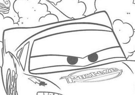 Light McQueen Racing Coloring Page