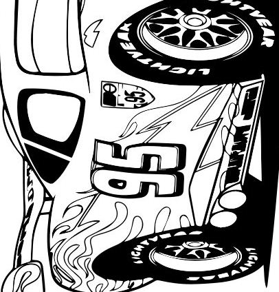 Lightening McQueen - Cars 2 Coloring Page