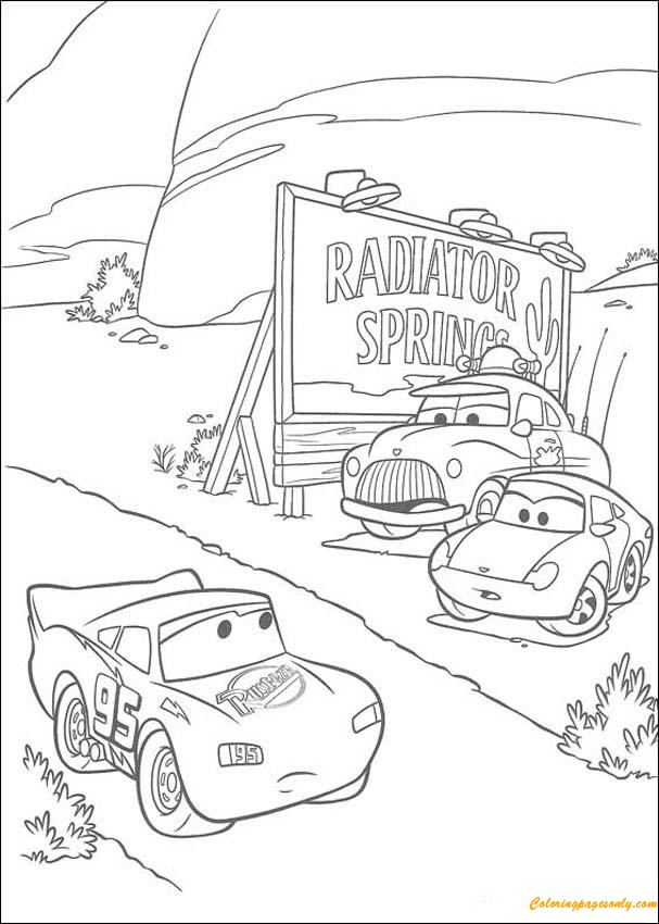 Lightning Mc Queen Racing Coloring Page
