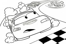 Lightning McQueen 1 Coloring Page
