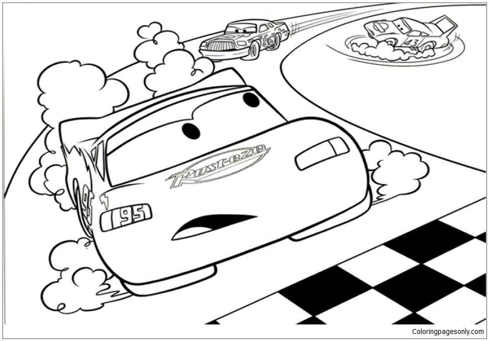 Lightning McQueen 1 Coloring Pages - Cartoons Coloring ...