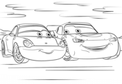 Lightning Mcqueen and Sally from Cars 3 from Disney Cars Coloring Page