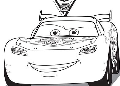 lightning mcqueen cars 2 - Mcqueen Coloring Pages