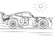 Lightning McQueen from Cars 3 from Disney Cars Coloring Page