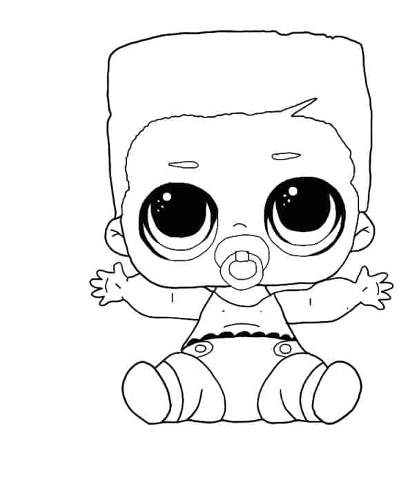 Lol Suprise Doll Lil Swag Boi Coloring Page